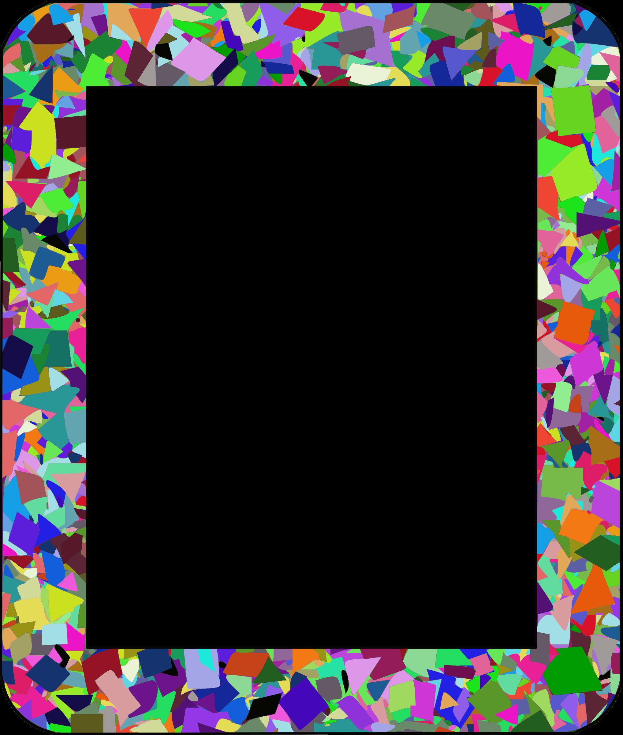 Frame clipart confetti Frame frame Confetti Confetti 1