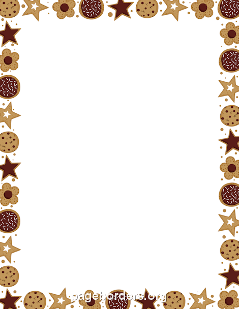 Coffee clipart frame Border: Cookie Graphics Border Clip