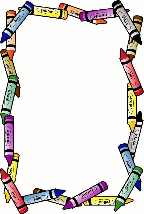 Crayon clipart boarder Page Crayon school Borders borders