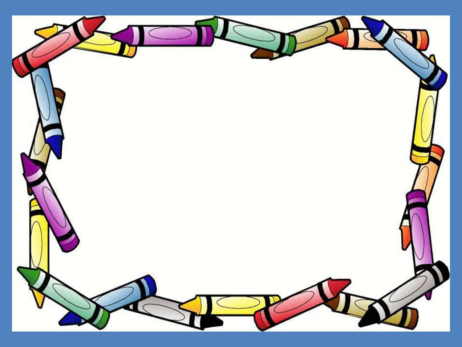 Crayon clipart boarder Free Crayon Clipart Clipart Images