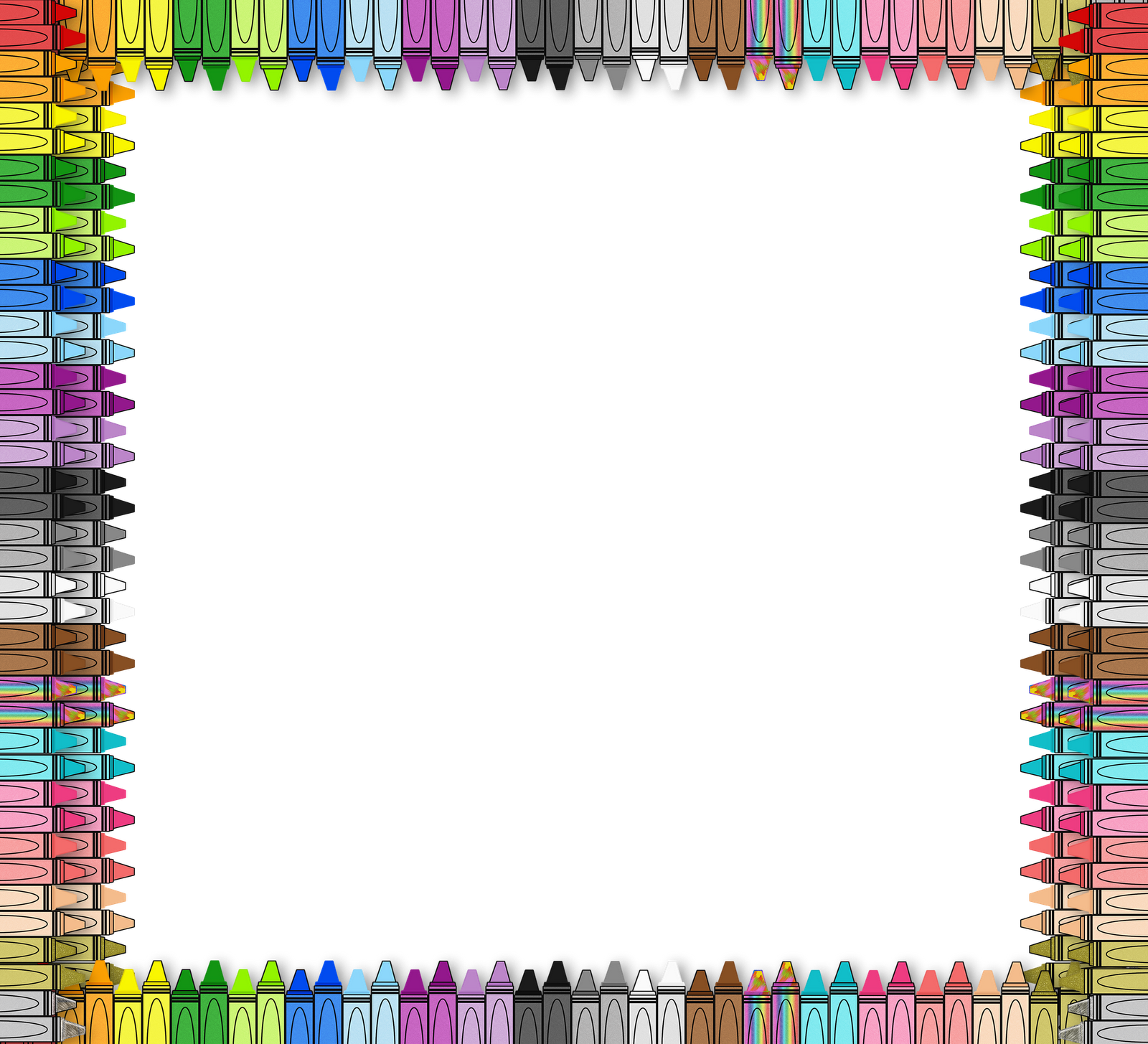 Crayon clipart boarder From ready set StaffTagsPaintings 3am