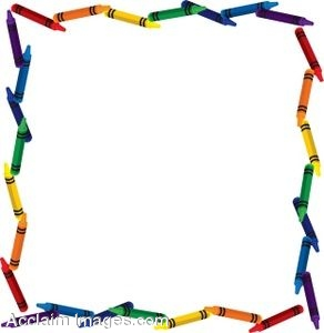 Crayon clipart boarder Frame Art Download  clip