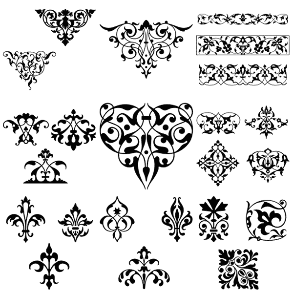 Calligraphy clipart classic border Free borders free vintage vintage