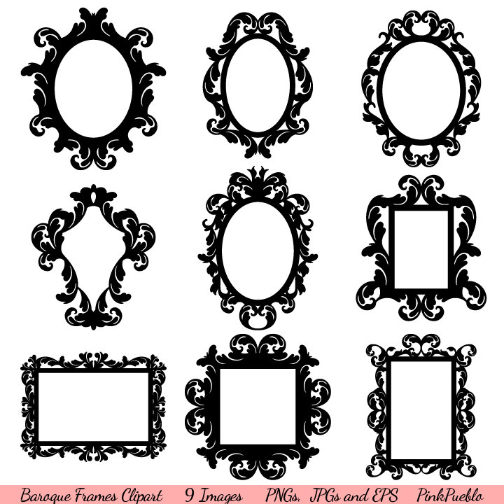 Squares clipart filigree Frames Vintage and Art Clipart