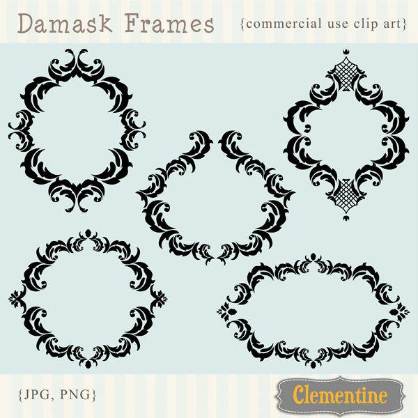 Damask clipart frame Clip clip frames Damask Like