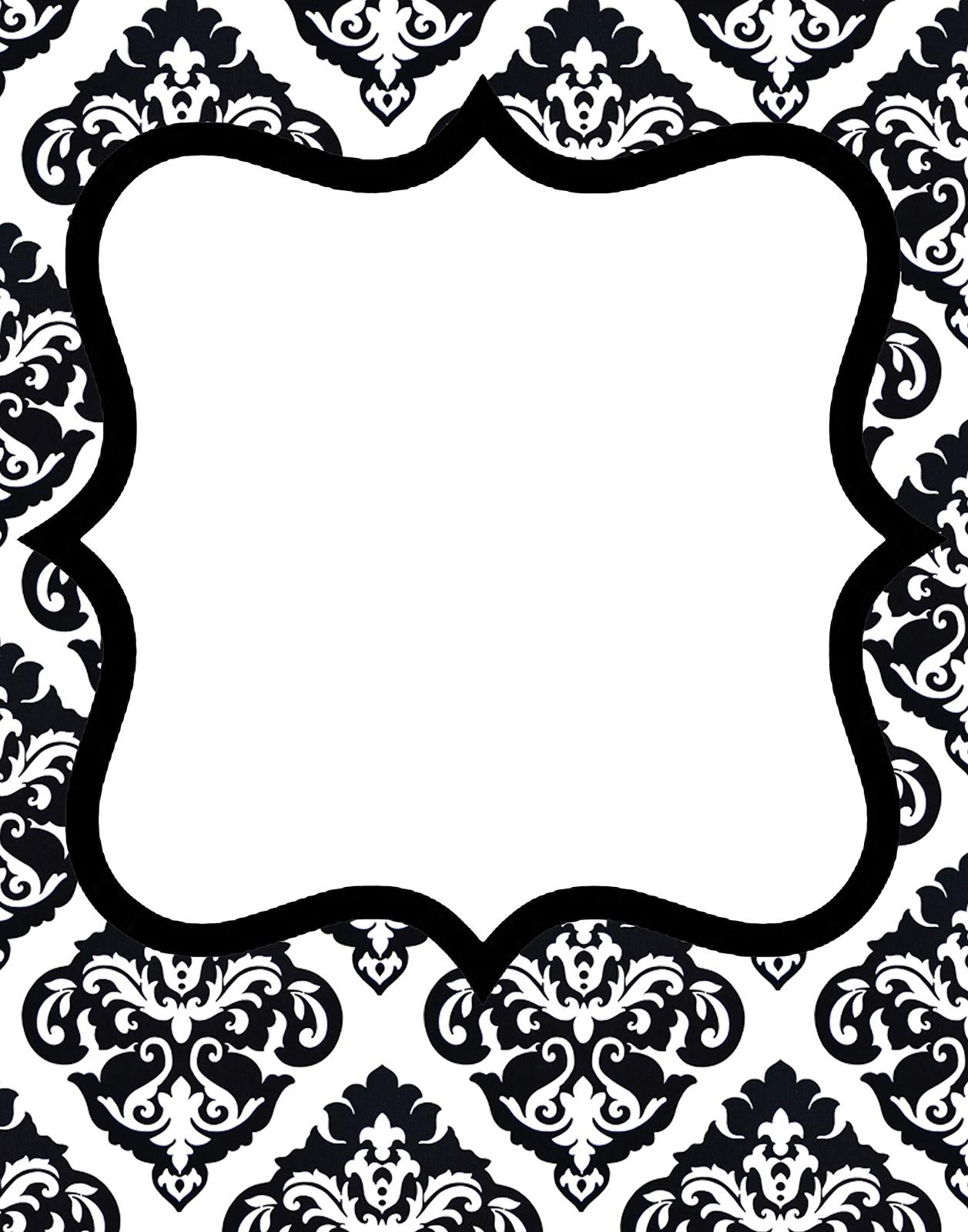 Damask clipart frame Gorgeous Black invitations 1 Clip