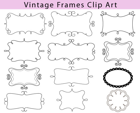 Line clipart classic Free  Decorative Frames Decorative