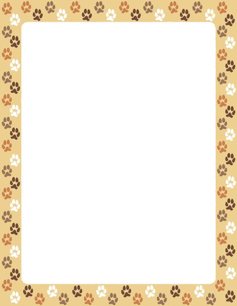 Paw clipart animal backgrounds Print Border Dog images 84