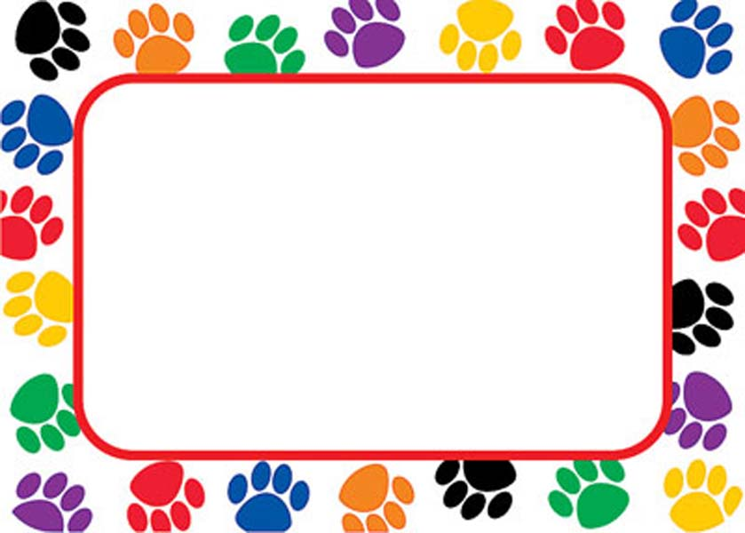 Pets clipart boarder $4  Name Launching 49