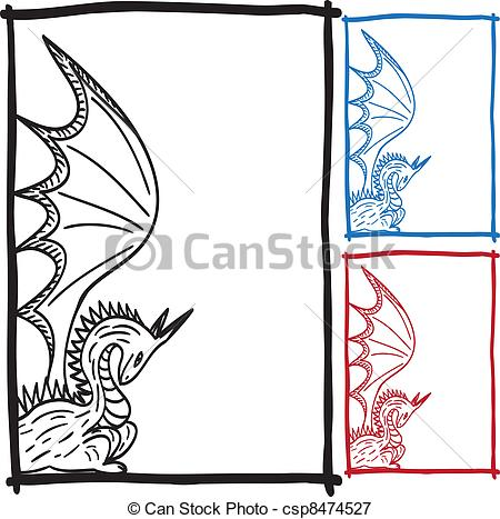 Frame clipart dragon Frame with Vectors picture sketch