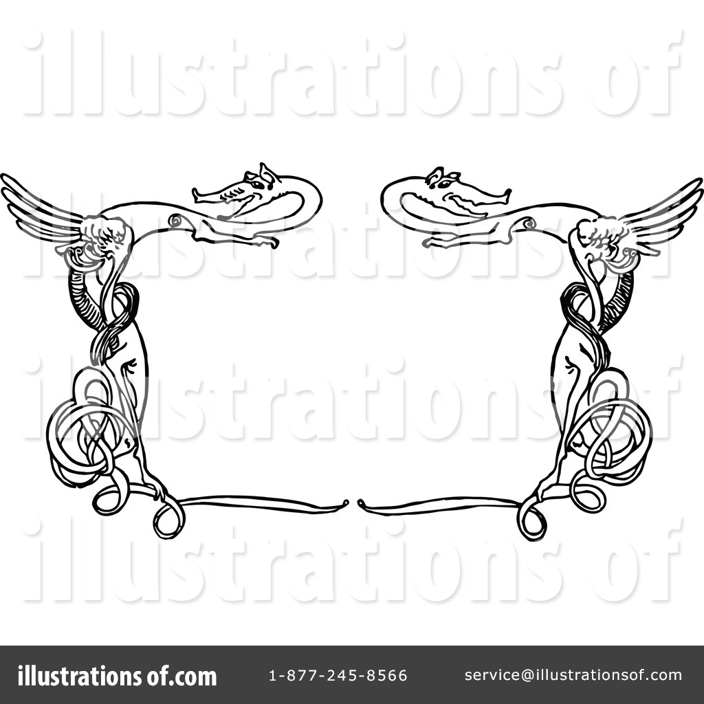 Frame clipart dragon Illustration Vintage Illustration Frame #1112568