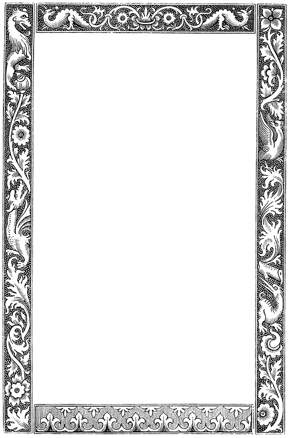 Frame clipart dragon Antique frame 001 frame Art