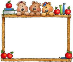 Bear clipart frame  Back to clipart School