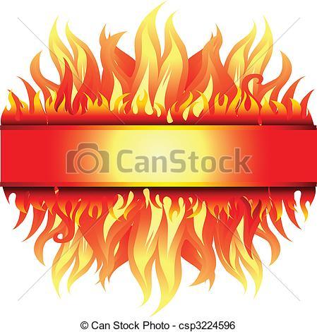Frame clipart fire Fire Vector Art  (From