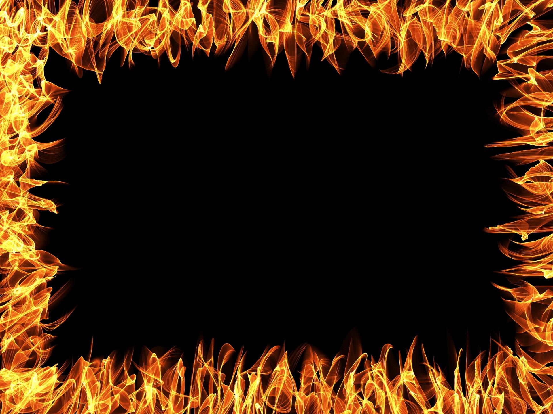 Frame clipart fire Frame Flaming Border Domain Art