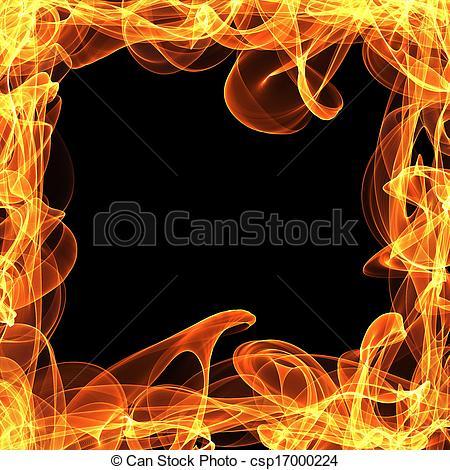Frame clipart fire Fire Stock Art black frame