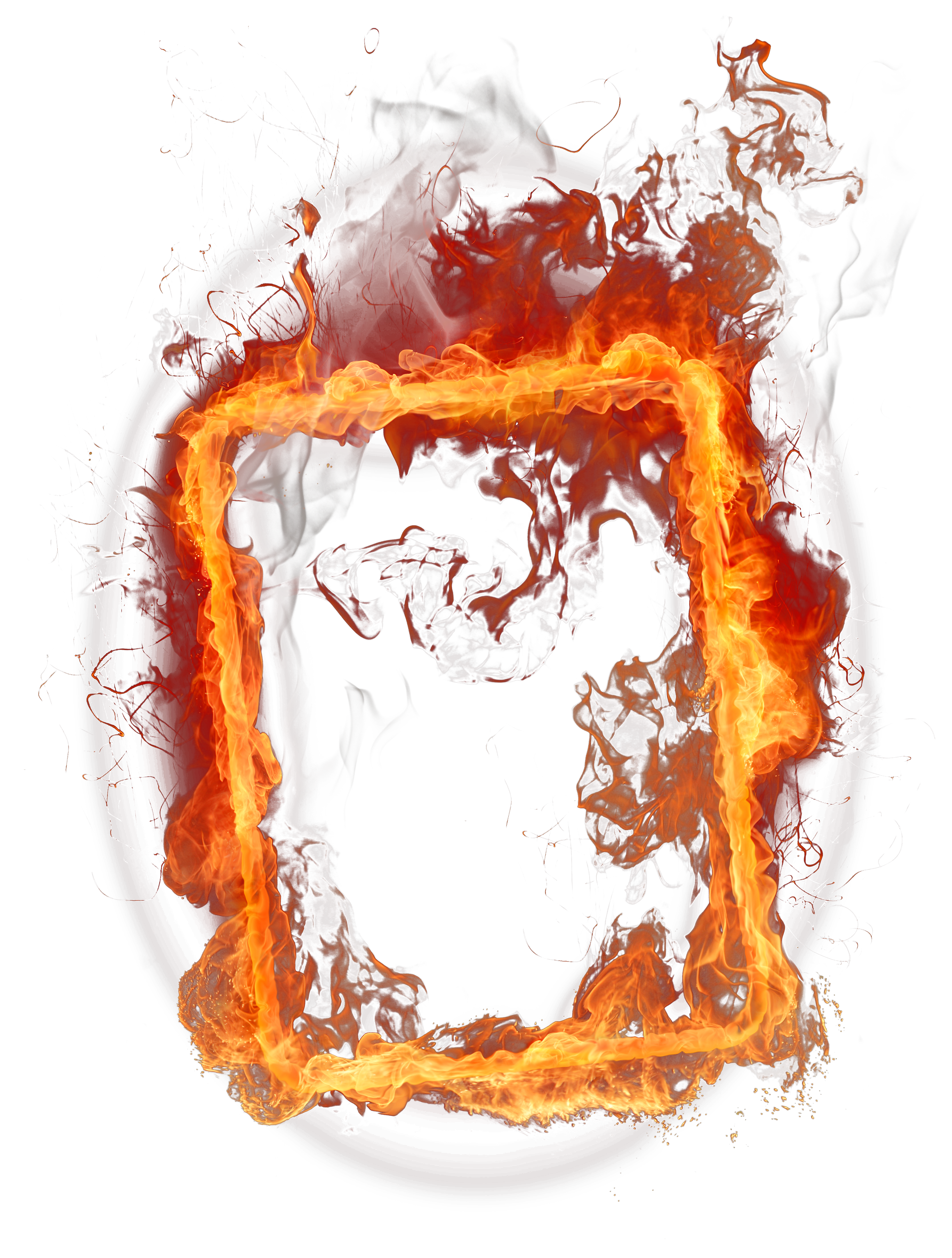 Frame clipart fire Frame View Clipart Yopriceville full