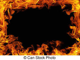 Frame clipart fire Fire Fire Stock art 7