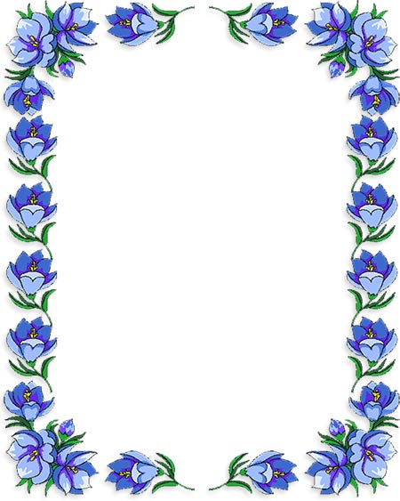 Blue Rose clipart side Sided frame 4 Clipart Free
