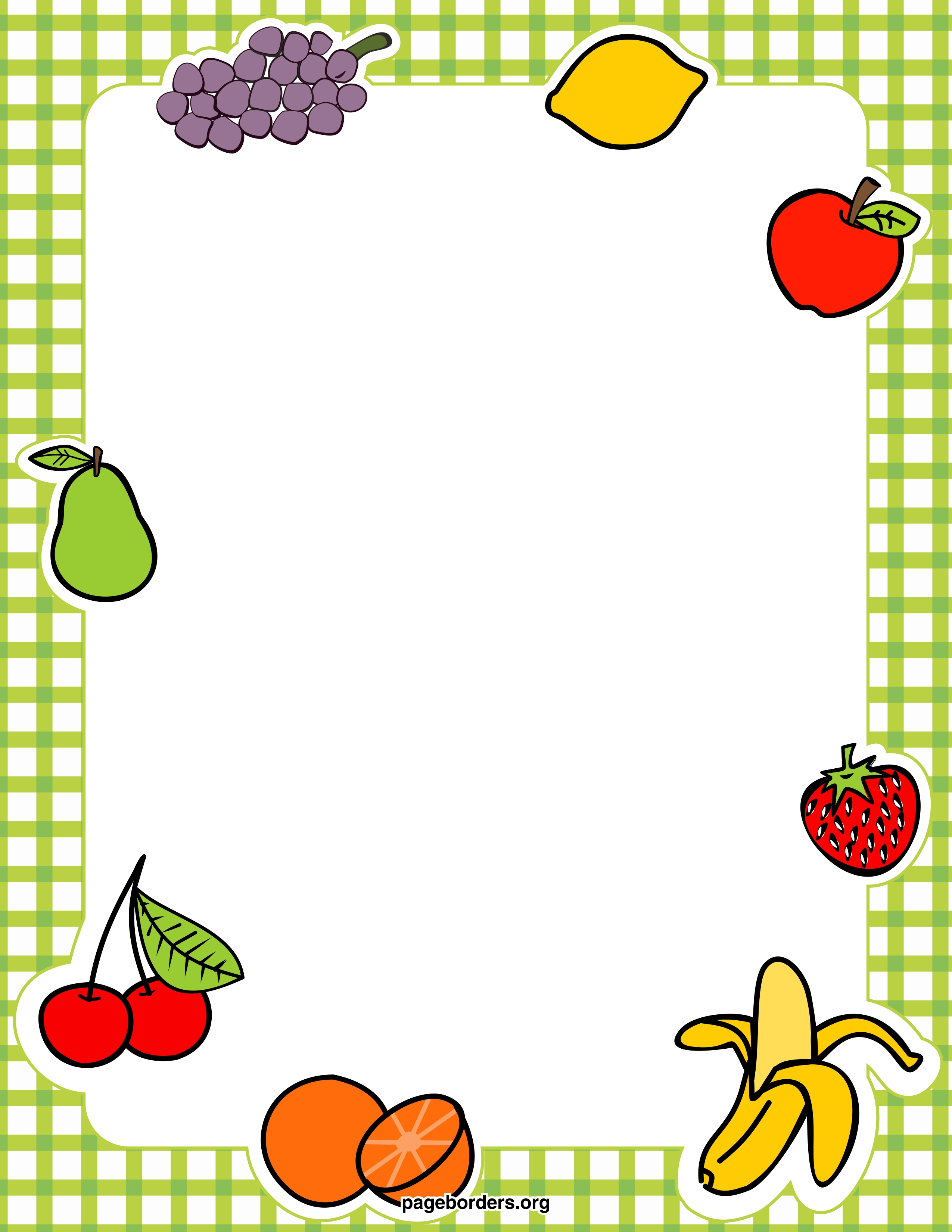 Picnic clipart page border Kitchen frame Collection  Clipart