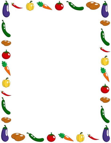 Breakfast clipart boarder Images Vegetable border Border best