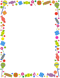 Frame clipart food Borders Graphics Candy and Vector