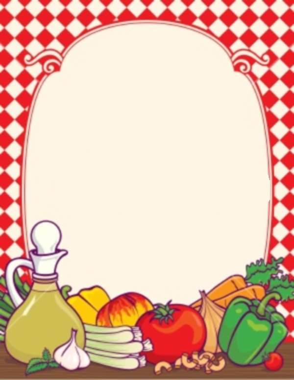 Frame clipart food Food Art Border Border Clip