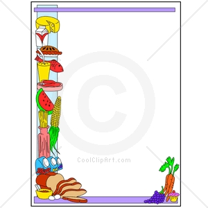 Frame clipart food  Clipart border: Collection frame