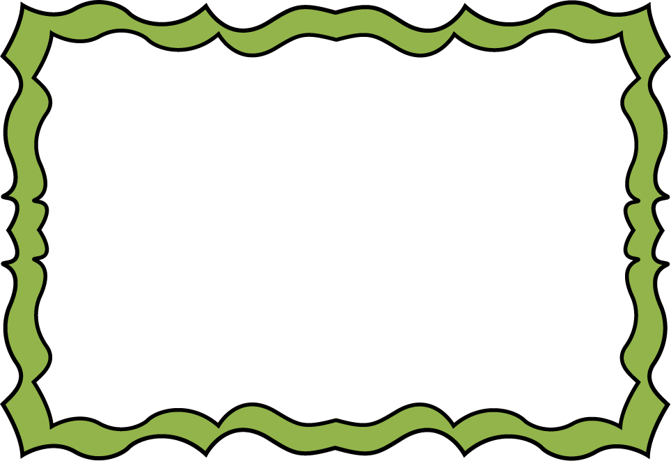 Fun clipart borders Forest Squiggle Green Forest Frame