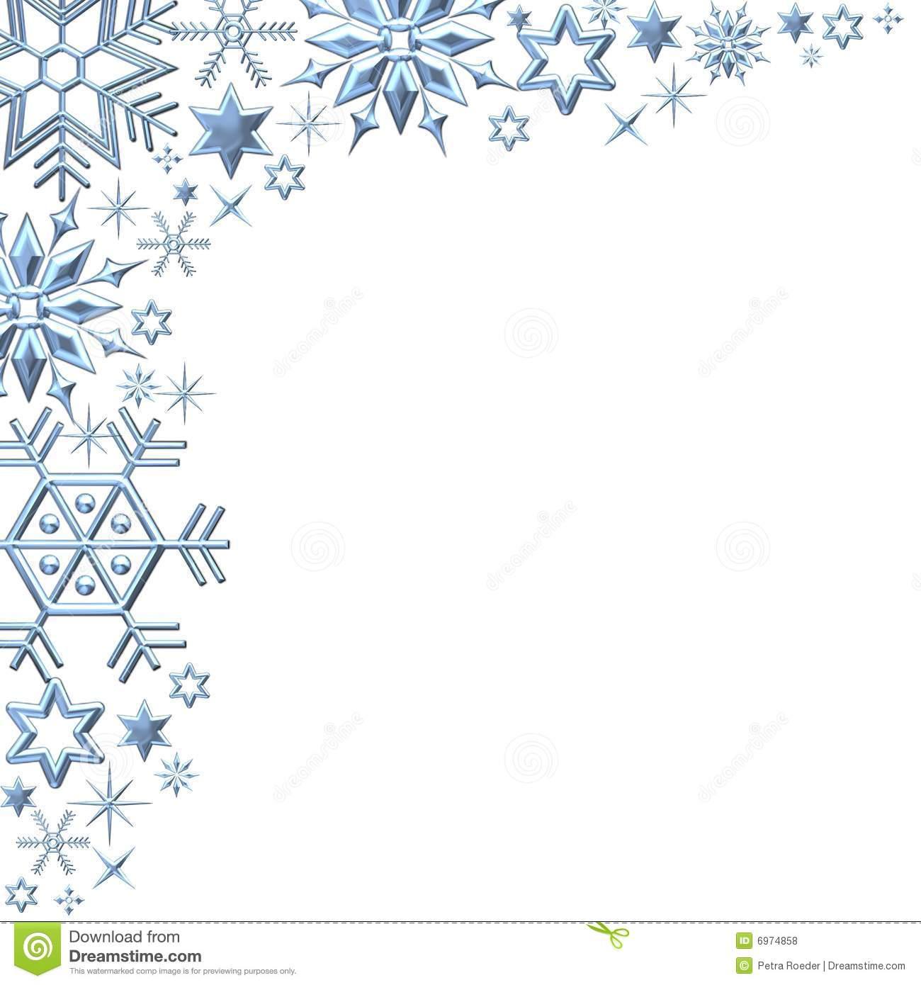 Winter clipart frame Snowflake Border Winter Clipart Printable