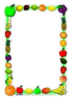 Frame clipart fruit Clip … Border  Free