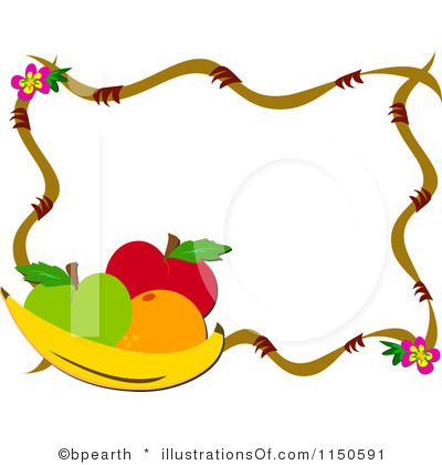 Frame clipart fruit Free And Fruits Panda Clipart