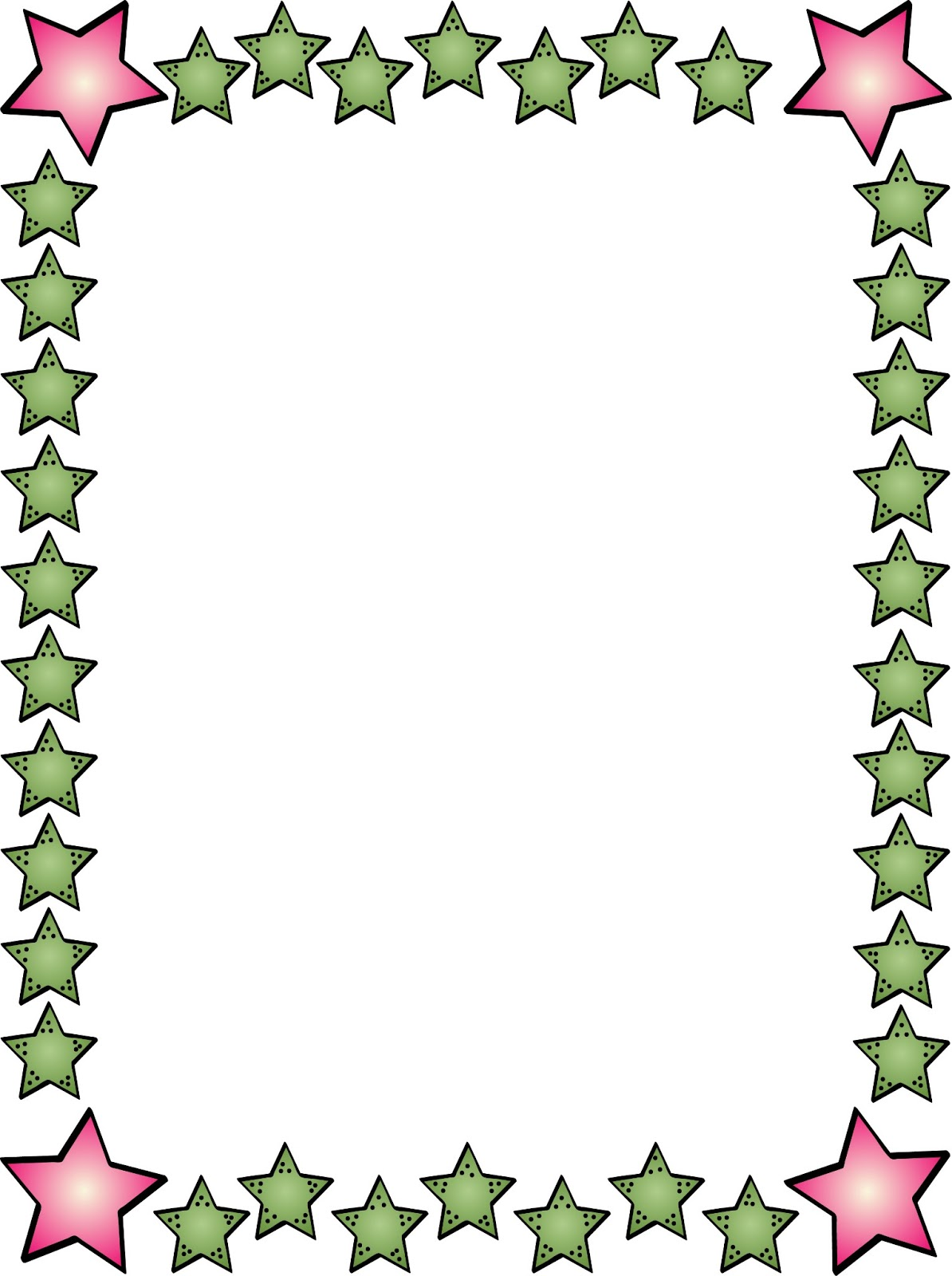 Dots clipart star Border Art on  Download