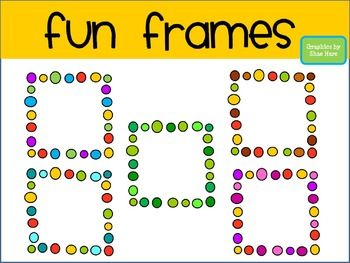 Fun clipart picture frame Art Squ Fonts Fun Clip