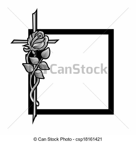 Decoration clipart funeral Grief with Stock cross frame