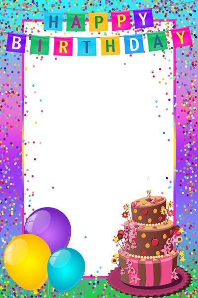 Frame clipart happy birthday Birthday Birthday best Multicolor on