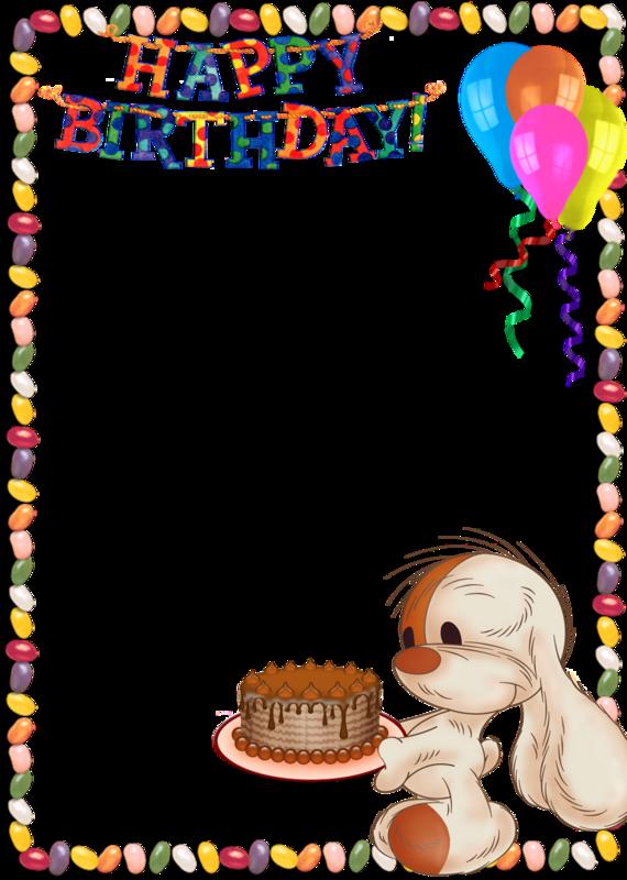 Frame clipart happy birthday Birthday  Art Free Cute