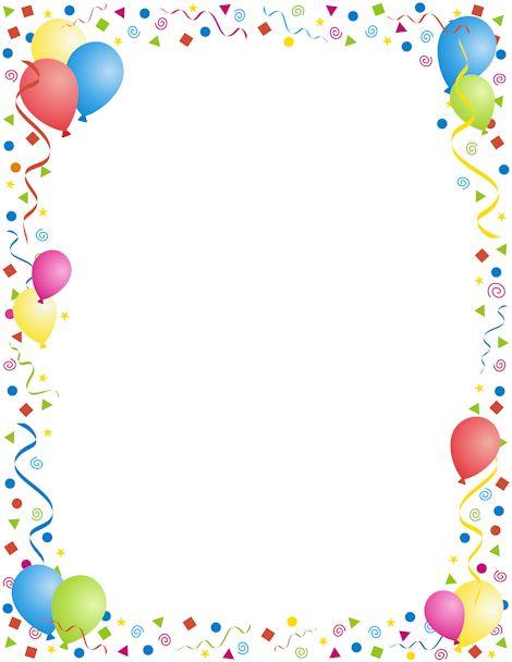 Frame clipart happy birthday Border Happy art party free