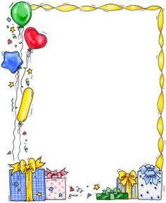 Frame clipart happy birthday CONVITE Borders Happy Dezembro art