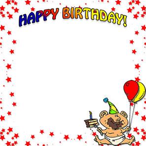 Frame clipart happy birthday Birthday Clip Birthday Birthday Border