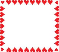 Hearts clipart border Heart Square Clipart 83 Borders