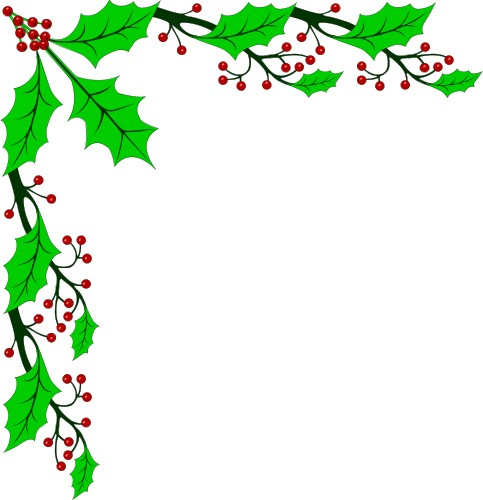 Holley clipart holiday Christmas Frame Free Free Clipart