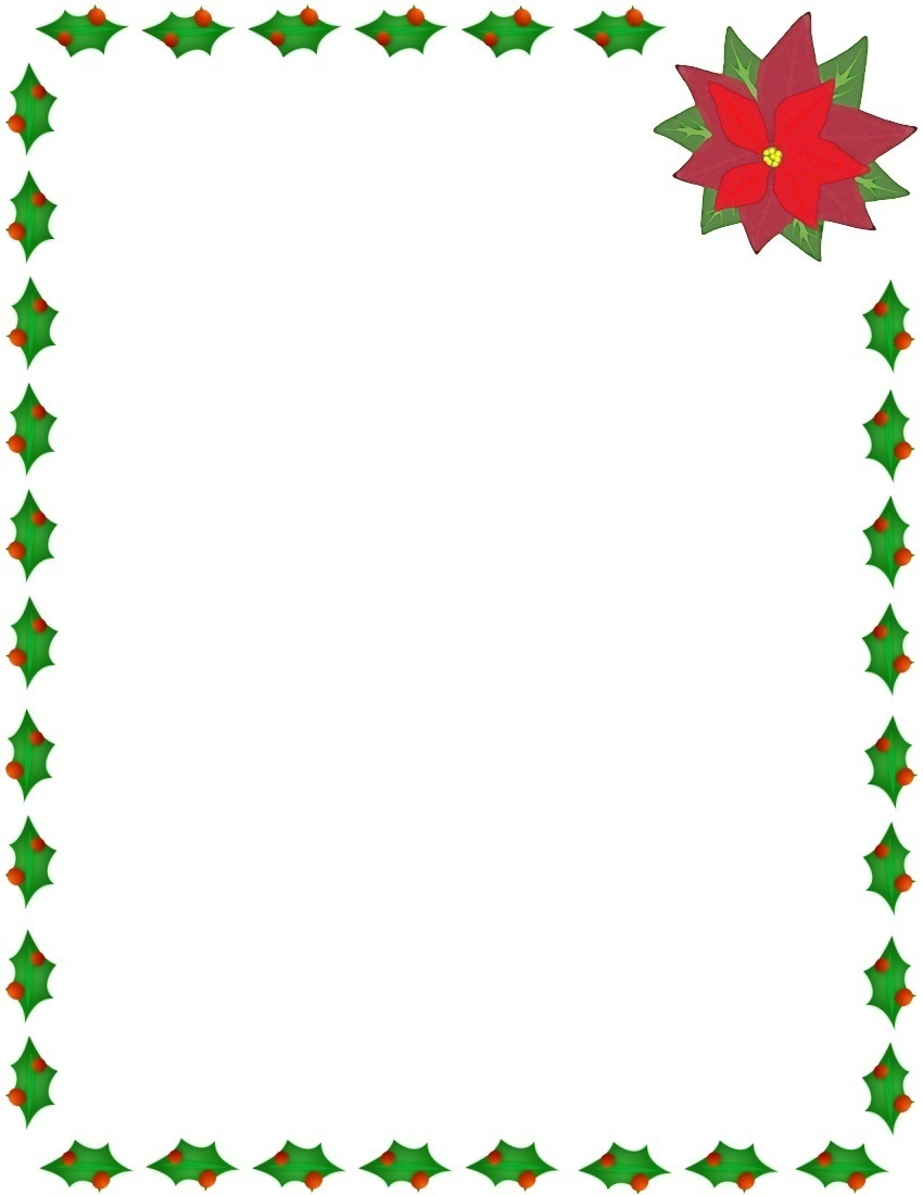 Frame clipart holiday Holly poinsettia /page_frames/holiday  border