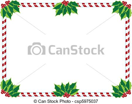 Lines clipart candy cane Of candy cane candy holly