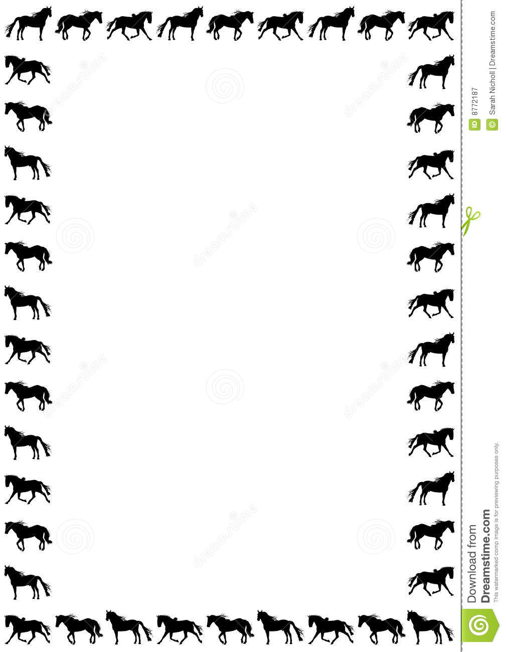 Frame clipart horse Art Clip and horse Horse