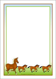 Frame clipart horse SparkleBox bordes Fire Border borders