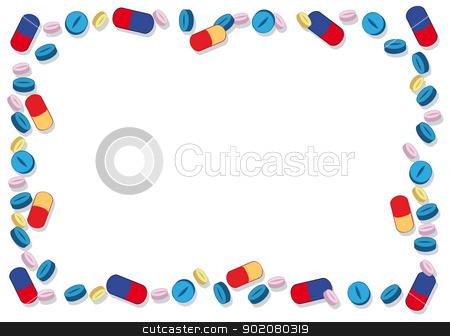 Frame clipart hospital Pills Pills stock Frame vector