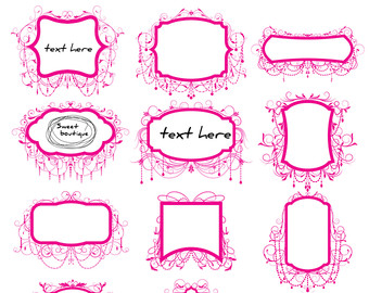 Frame clipart hot pink Wedding Clipart Borders Frames Hot