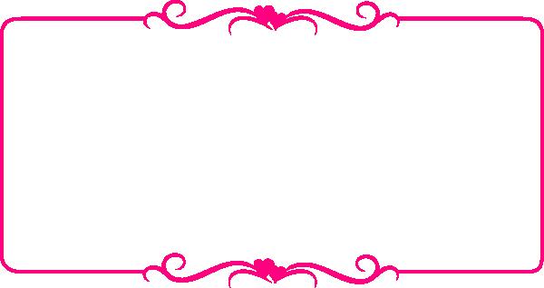 Frame clipart hot pink Vector Pink  art Art