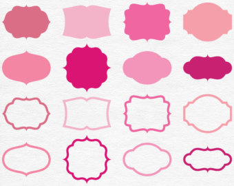 Frame clipart hot pink Pink Clipart Lace Pink Digital